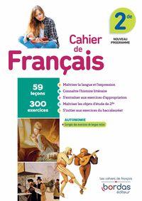 CAHIER DE FRAN€AIS 2DE ED.  2019