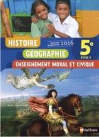 HISTOIRE-GEOGRAPHIE-EMC 5EME ED.  2016