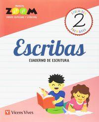 ESCRIBAS 2 CUADERNO DE ESCRITURA